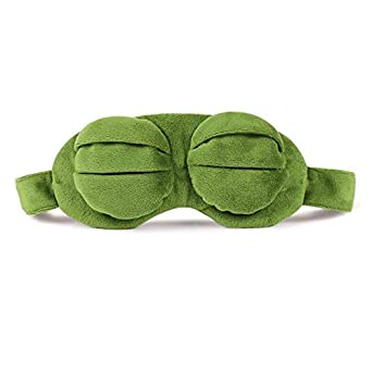 Funny Creative Pepe The Frog Sad Frog 3d Eye Mask Cover Cartoon Plush Sleeping Mask Cute Anime Gift Men's Accessories
