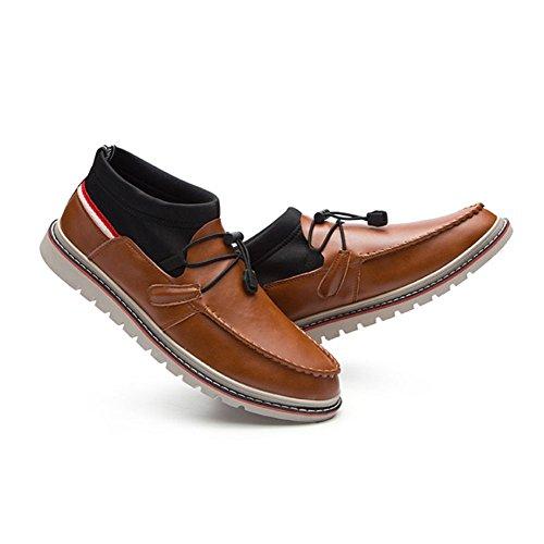 Zpfdy Hombre Invierno Casual De Juventud Otoño Brown Cuero Lace Zapatos Fashion British Bullock rrEXdwq
