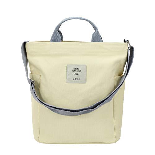 SteamedBun Canvas Womens Tote Bags Crossbody Medium Zipper Hobo Bag Shoulder Work Travel Book Handbag
