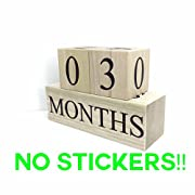 Wooden Baby Milestone Blocks - 3 Color Styles - Best Baby Age Photo Props, Wooden Age Blocks, Baby Photography Props, Nursery Decor, Baby Shower Gifts by Sweet Sage Studio