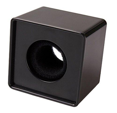Square Microphone Station Logo Black - 9