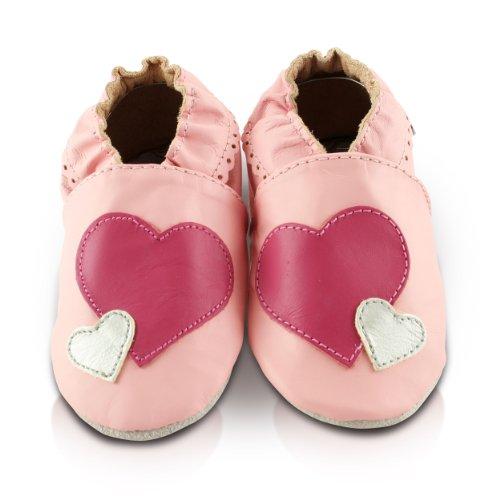 Silber Sapatos Monate Couro Rosa 18 De Aconchegar Pink Und Weich Corações Babyschuhe Prata Macio Leder Herzen Pés 24 Meses Snuggle Do Feet 24 18 E Bebê g6pqw7BaYc