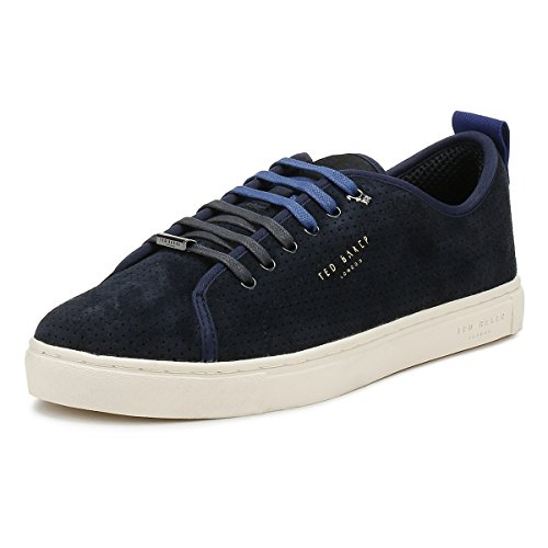 Ted Baker Mens Dark Blue Kaliix Sneakers-UK - Baker Stockist Ted