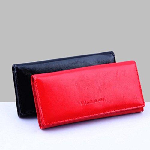 Rovinci Frauen Damen Geldbörse Einfarbig Brieftasche Geldbeutel ...