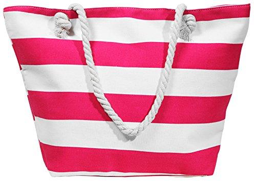 XL Beach Bag Streifen grau Strand- Sauna- Schwimmbadtasche Blockstreifen in 4 Farben erhältlich pink XjgHwPMhh