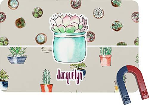 Cactus Rectangular Fridge Magnet - Cactus Magnet Personalized