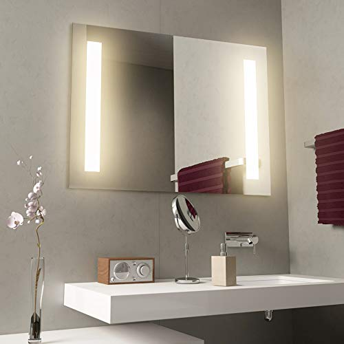 GetInLight LED Wall Mounted Lighted Vanity Mirror, 3000K(Soft White), ETL Listed, Damp Location Rated, IN-0405-2-24-30-3K