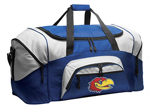 Broad Bay Large KU Jayhawks Duffel Bag Large University Kansas Gym Bag Luggage (Kansas Jayhawks Duffle Bag)