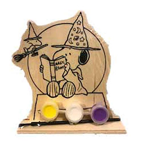 (Peanuts Paint Your Own Wooden Standee Set - Halloween Craft Project (Snoopy Woodstock Magic)