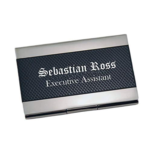 - Personalized Carbon Fiber Business Card Case Holder Custom Engraved Free