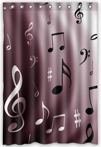 Image Unavailable Not Available For Color Funny Design Musical Note Shower Curtain