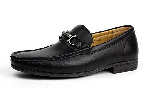 Albertini Herren Fahren Slipper Freizeitschuhe Smart Slipper Lederoptik Mokassin Stil