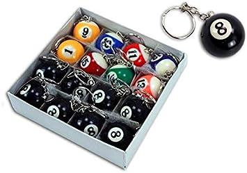 Lote 3 - bolas Llaveros 3,3cm colores variados de billar - Calidad ...