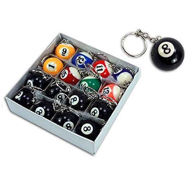 Lote 3 - bolas Llaveros 3,3cm colores variados de billar - Calidad COOLMINIPRIX®: Amazon.es: Bricolaje y herramientas