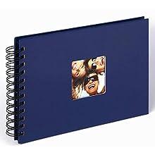 Walther, Fun, Álbum De Fotos En Spiral, SA-109-L, 23x17 cm, 40 Páginas Negras, Azul