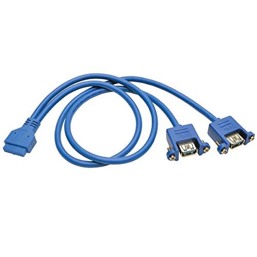 20p Usb - TRIPP LITE USB 3.0 2-Port Panel Adapter 20 Pin Motherboard IDC 2x USB-A 18