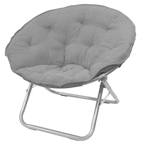 Urban Shop Microsuede Saucer Chair, Adult, Grey
