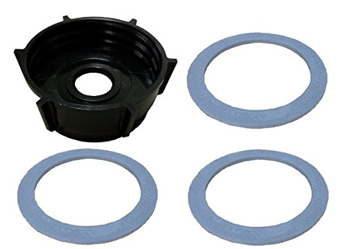Oster Blender Bottom Jar Base Cap & (3) Gasket Seal Rubber Rings