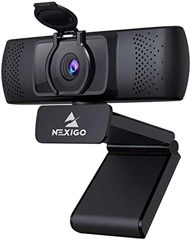2021 1080P Streaming Business Webcam with Microphone & Privacy Cover, AutoFocus, NexiGo N930P HD USB Web Camera, for Zoom Meeting YouTube Skype FaceTime Hangouts, PC Mac Laptop Desktop