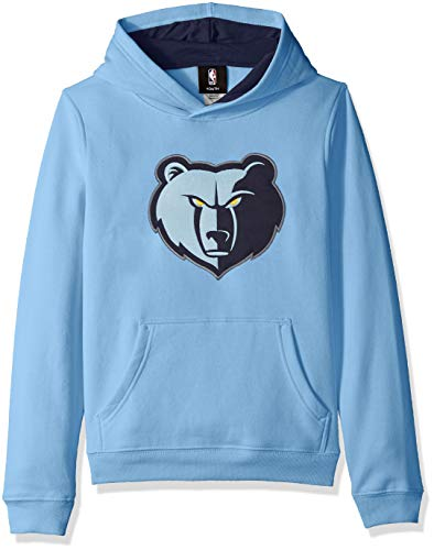 Outerstuff NBA NBA Kids & Youth Boys Memphis Grizzlies Prime Pullover Fleece Hoodie, Forever Blue, Kids Large(7)