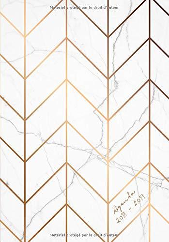 Agenda 2018-2019: Agenda Semainer de Juillet 2018 à Août 2019, A5, motif motif abstrait marbre Broché – 29 août 2018 Papeterie Collectif Independently published 1719945632 Design / Fashion
