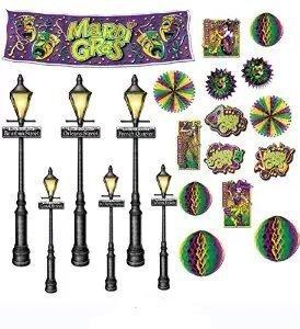 Mehrfarbig Pkg of 12 Mardi Gras D cor & Street Light Requisiten Sortiment 8 in.-46 in.