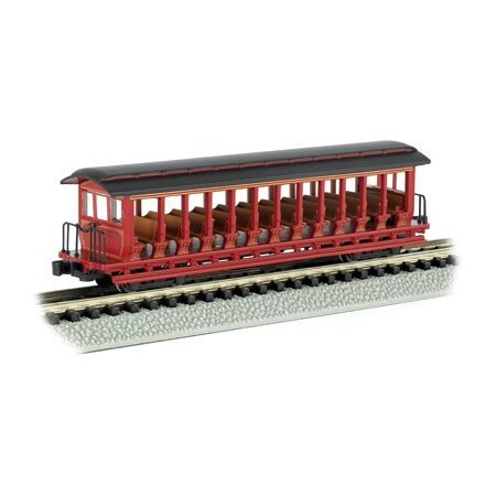 Bachmann Industries Inc. Jackson Sharp Open-Sided Excursion Car Painted, Unlettered - N Scale, Burgundy and ()