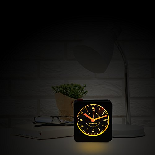 Marathon Clock Warm Auto Back Light Repeating