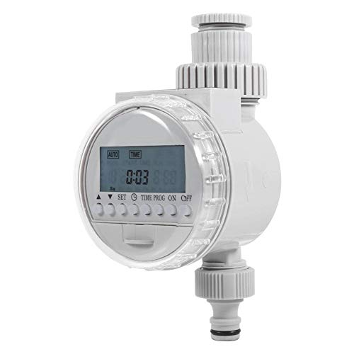 AYNEFY Water Timer for Garden, Solar Powered Irrigation Time Controller with LCD Digital Display for Plants Flowers at Garden for Home Park