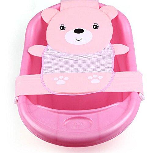 adjustable thicken newborn baby bath seat support net bathtub sling shower mesh bathing cradle. Black Bedroom Furniture Sets. Home Design Ideas