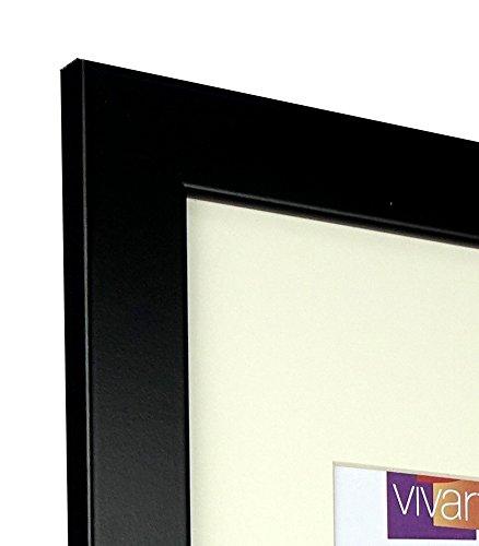 50,8/x 40,6/cm mit Passepartout Vivarti Breit Matt Schwarz Bilderrahmen Blende A3