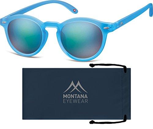 Montana, Lunettes de Soleil Mixte Multicolore - Multicoloured (Blue/Revo Green/Blue)