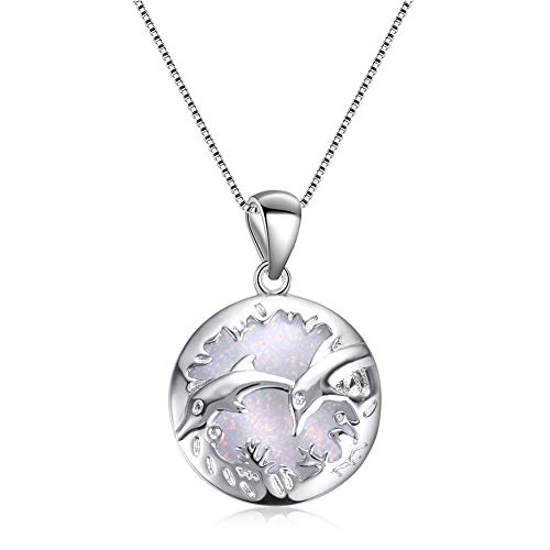 Designed White 14k Womens Gold - Yaoyodd19 Fashion Women Faux Opal Carved Dolphins Pendant Clavical Chain Necklace Jewelry - White
