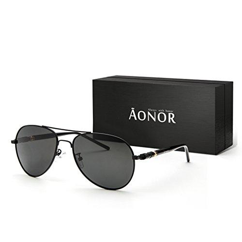 AONOR Aviator Sunglasses for Men and Women with Retro Polarized Lens - Sunglasses Google Glass