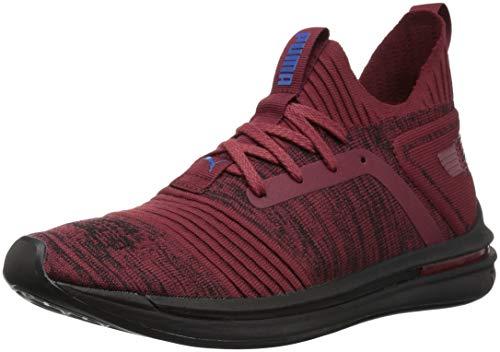 PUMA Men's Ignite Limitless SR Evoknit Sneaker, Pomegranate-Strong Blue, 11.5 M US (Mens Slip On Shoes Puma)