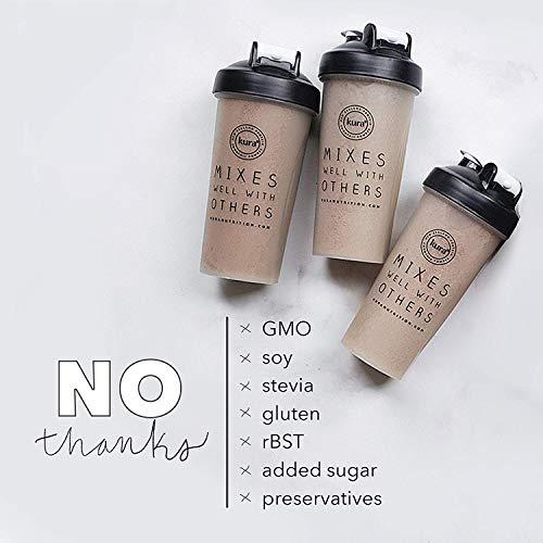 Kura Grass Fed Dairy Protein Powder, Vanilla, New Zealand Born, 10 Count Single-Serve Travel Packets by Kura Nutrition (Image #3)
