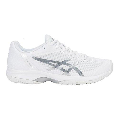 ASICS E850N Frauen Gel-Court Speed Schuh Weißsilber