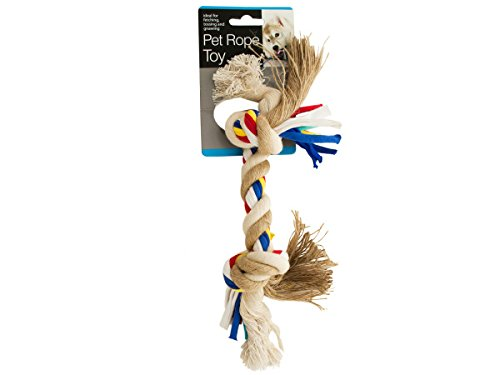 Medium Colorful Knotted Pet Rope Toy-Package Quantity,8 ()