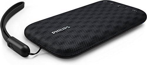 Philips Everplay BT3900B - Altavoz Bluetooth (Potente y portátil, Resistente al Agua, con micrófono, Correa USB) Color Negro