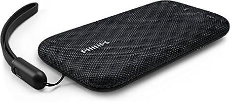 Philips BT3900B EverPlay Wireless Bluetooth Speaker Waterproof, Shockproof with USB Strap, Mic, Loud and Design Black