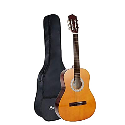 Strong Wind Classical Acoustic Guitar 36 Inch 6 Nylon Strings Guitar Beginner Kit for Students Children Adult