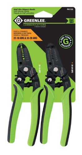 Greenlee Communications 22-10 AWG and 30-20 AWG Grip Wire Strippers Bundle