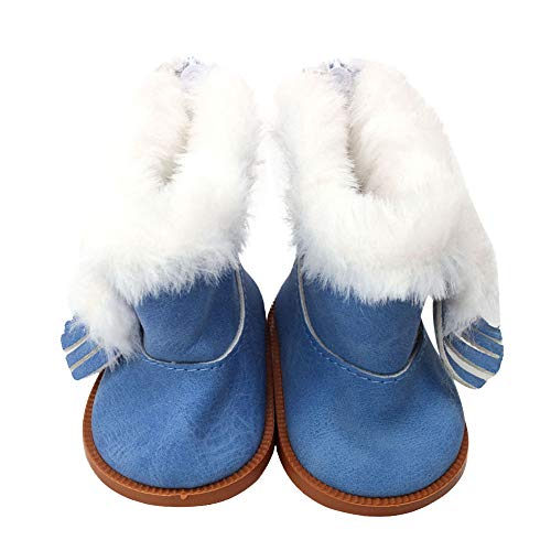 callm Winter Glitter Doll Shoes for All 18 Inch Doll Accessory Toy (Blue) for $<!--$1.59-->