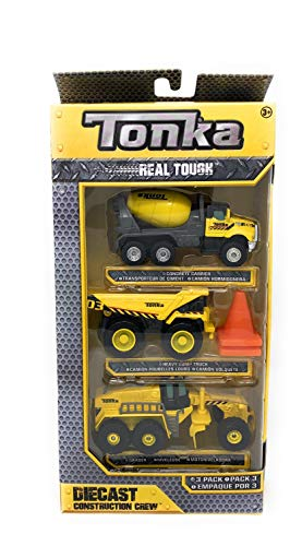 (Tonka Real Tough Diecast Construction Crew - 3 Pack (Concrete Carrier, Heavy Dump Truck, and Grader))