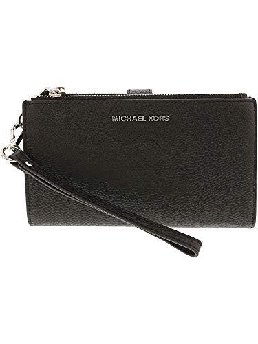 (Michael Kors Women's Michael Kors Adele Tumbled Black Leather Purse Black)