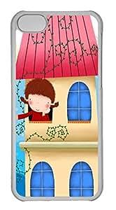 Customized iphone 5C PC Transparent Case - Cartoon Cover