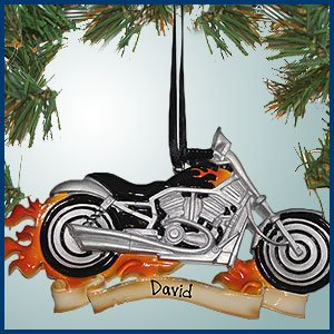 personalized christmas ornaments harley motorcycle with flames personalized with perfect handwriting