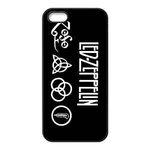 iStyle Zone Snap-on TPU Rubber Coated Case Compatible with iPhone 5 / 5S Cover [Led-Zepplin]