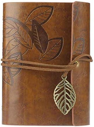 Leder-Abdeckung Notebook Jahrgang ungeheftetes Blank Journal Retro Schreiben Tagebuch Bound Note Book Brown 1pc