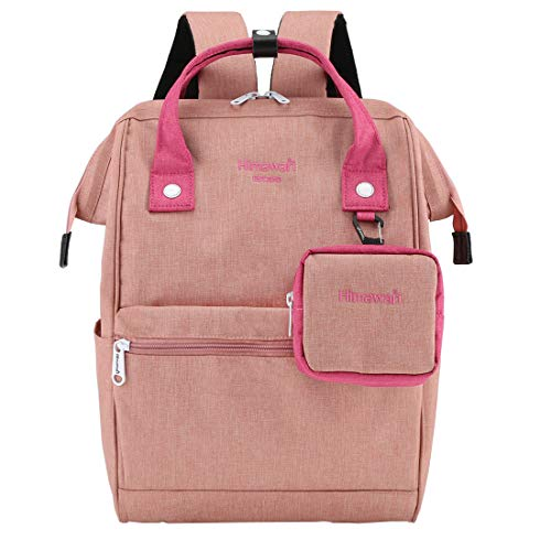 Himawari Travel Laptop Backpack for Men Women, Huge Capacity 15.6'' Computer Notebook Bag for School College Students(Light Pink) (Best Small Day Backpack For Travel)